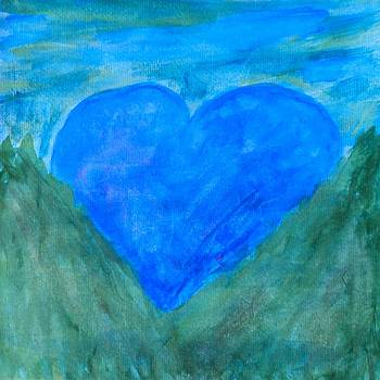 Artists With Autism Inc - Blue Heart Sunrise