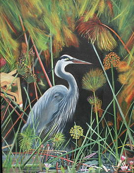 Blue Heron by Brenda Everett