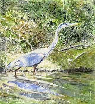 Blue Heron by Carol Flagg