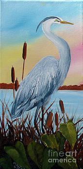 Blue Heron by Darlene Green