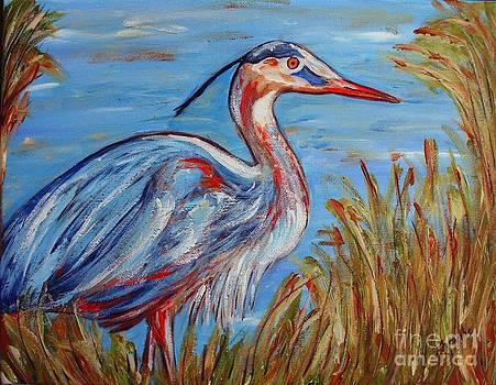 Blue Heron by Jeanne Forsythe