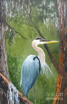 Blue Heron Nesting by Barbara Haviland