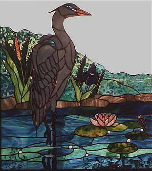 Blue Heron by Sherri Anderson
