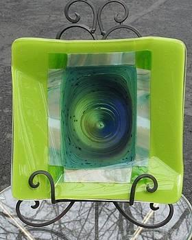 Blue Hole Platter  by Jill Groves