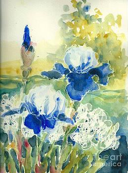 Blue Irises by Toshiko Tanimoto