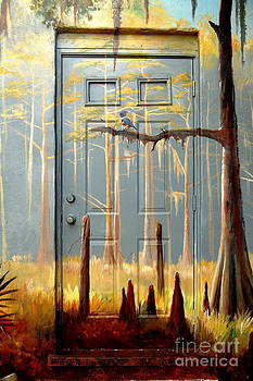 Linda Rae Cuthbertson - Blue Jay At The Door
