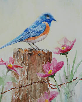 Blue Jewel by Marilyn  Clement
