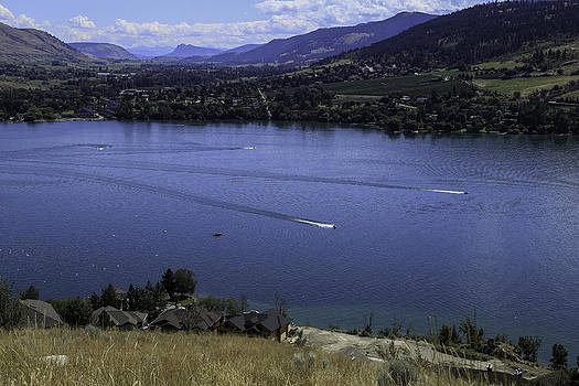Bonnie Davidson - Blue Lake with Boats