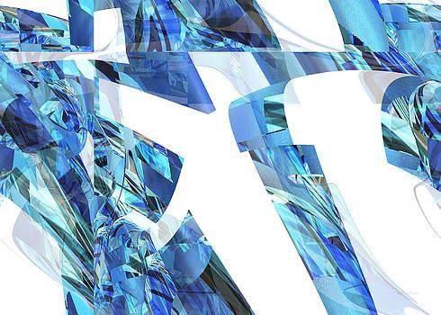 rd Erickson - Blue Love - abstract art