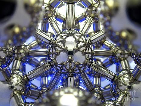 Blue Magnetic Lotus Flower by Mark Teeter