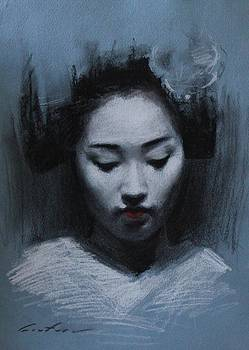 Blue Maiko by Phil Couture