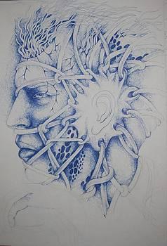 Blue Man by Moshfegh Rakhsha