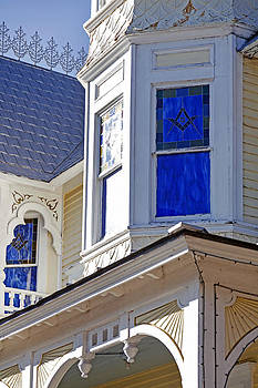 Lynn Palmer - Blue Masonic Window