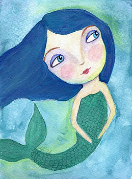 Blue Mermaid by Lynda Metcalf