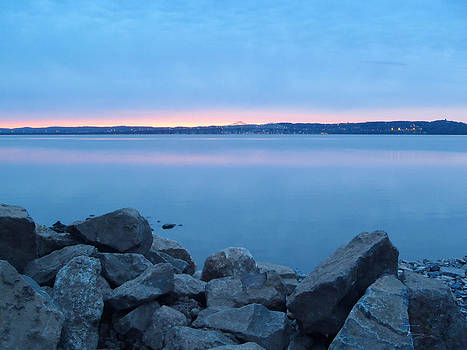Blue Morning at the Tappan Zee  by Tammy Kuiper