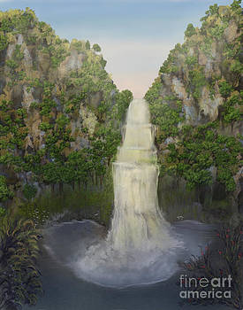 Blue Mountain Waterfall by Sydne Archambault