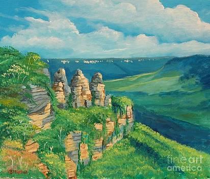Blue Mountains Australia by Jean Pierre Bergoeing