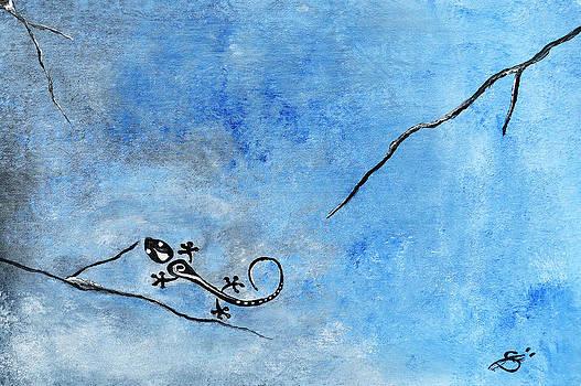 Blue Nile Lizard by Sherry Allen