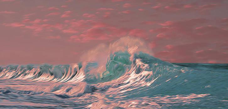 Blue Ocean Wave by Timothy Hack