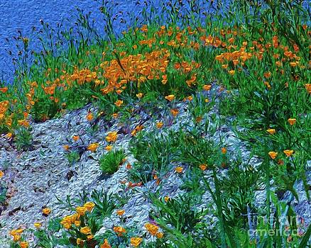 Blue on Gold by Michael Lovell