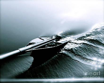 Blue Paddle by Kimberly Nickoson