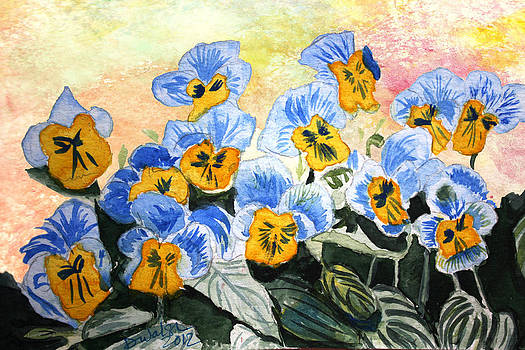 Donna Walsh - Blue Pansy