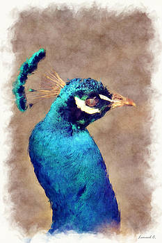 Blue Peacock by Lemuel Conde