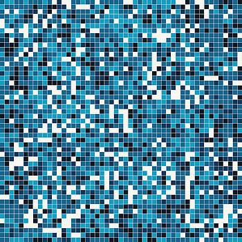 Blue Pixel Art by Mike Taylor