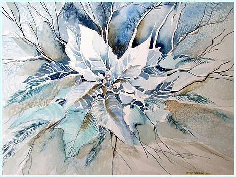 Blue Poinsettia by Mindy Newman