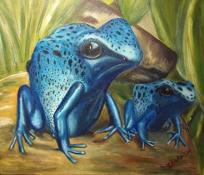 Blue Poison Dart Frog by Isabel Honkonen