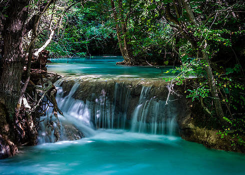 Blue Pools at Sillans-la-Cascade by Scott Presnell