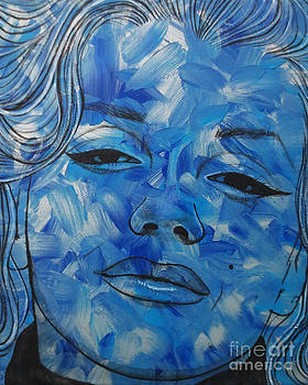 Blue Pop Marilyn Mini by Malinda Prudhomme
