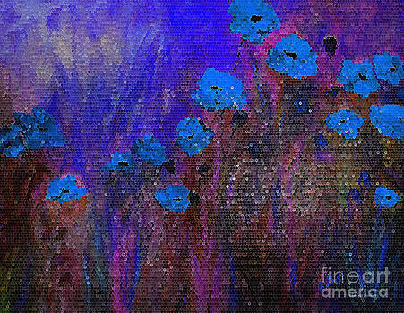Blue Poppies by Claire Bull