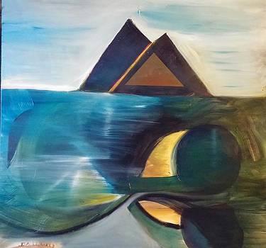Blue Pyramid by Gregory Dallum