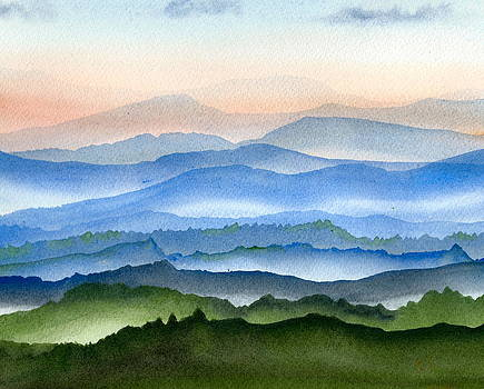 Blue Ridge Mist 1 by Teresa Tilley