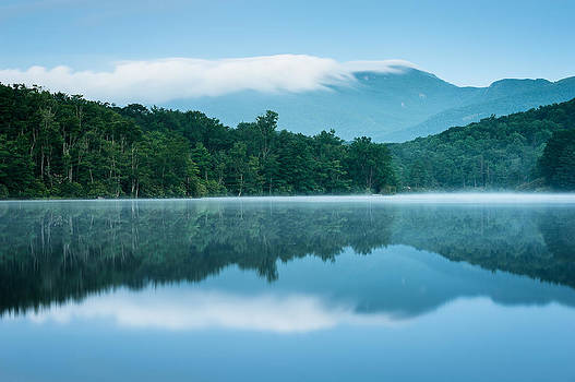 Blue Ridge Mountain Western North Carolina Blue Hour Reflection by Mark VanDyke