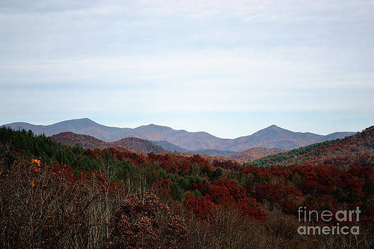 Blue Ridge Mountains in the Fall by Eva Thomas