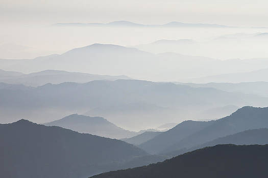 Blue Ridge Mountains View from Roan Mountain Balds by Bill Swindaman