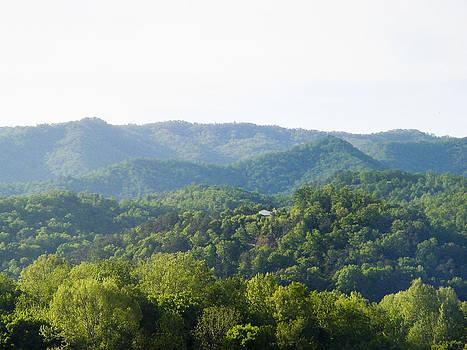 Blue Ridge sundown by Robert J Andler