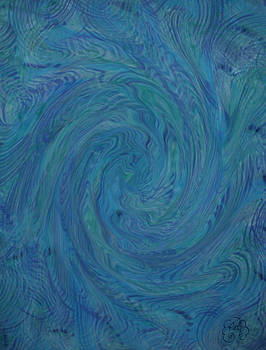 Blue Rippled Wave by Patricia Kay