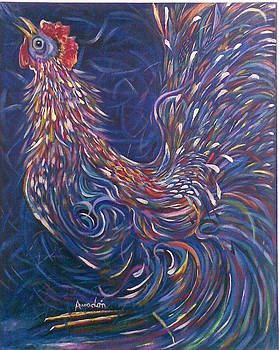 Blue Rooster  by Amado Gonzalez