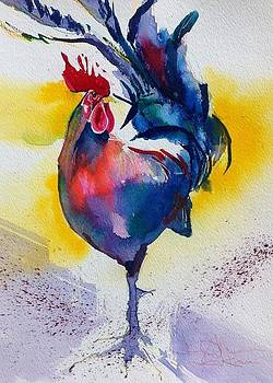 Blue Rooster by Cheryl Johnson ARTIST