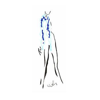 Mark Wilcox - Blue Scarf 2