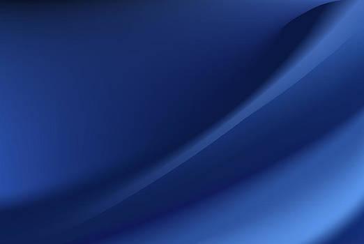 Blue silk background with some soft folds by Larisa Karpova