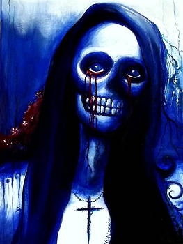 Blue Skeleton Woman by Veronica Calderon