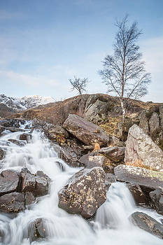 Blue Skies at Rhaeadr Idwal by Christine Smart