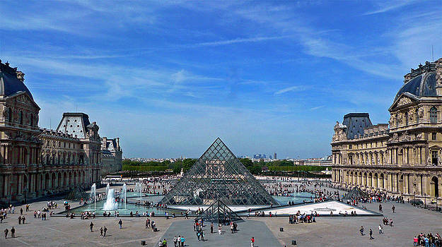 Blue Sky Over The Louvre by Martin Billings