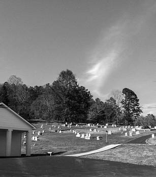 Blue Sky Serenity the End Blk and wht by Robert J Andler