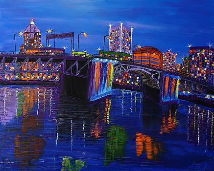 Blue Skys Of Morrison Bridge 3 by Portland Art Creations