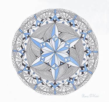 Blue Snow Flake Mandala by Nancy TeWinkel Lauren